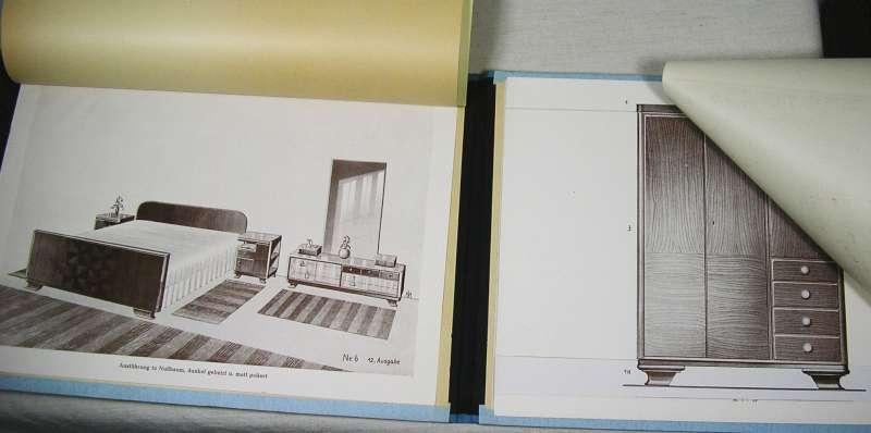 mappe entwürfe für schlafzimmereinrichtungen um 1950, Innenarchitektur ideen